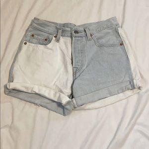 two toned Levi shorts!!!